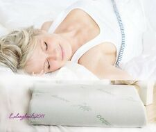 Contour Memory Foam Pillow Bamboo Firm Head Neck Support Orthopaedic RE