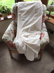 Single Bed Pleated Valance Cream Homebase