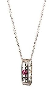 Crystals From Swarovski Lucky Angel Number 3014 Pendant Necklace Rhodium 2201Lh