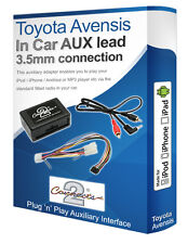 Toyota Avensis AUX lead, iPod iPhone MP3 player, Toyota Auxiliary adaptor kit