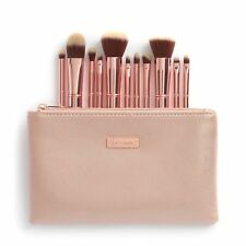 BH Cosmetics Metal Rose 11 PC Brush Set W Cosmetic Bag Pink Beauty