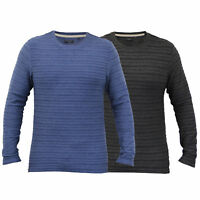 Mens Long Sleeved Jersey Top Brave Soul T Shirt Plain Crew Neck Ribbed Summer