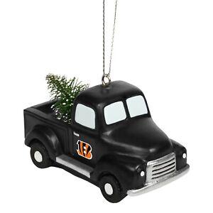Cincinnati Bengals Truck with Tree Christmas - Tree Holiday Ornament FREE SHIP