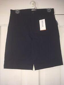 Old Navy Boys Size 14 Navy Blue Chino Flex Shorts Adjustable Waist