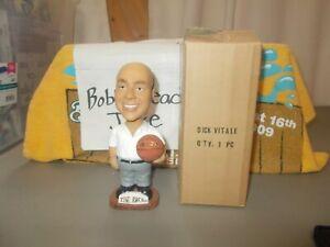 """NIB NCAA BASKETBALL DICK VITALE BOBBLEHEAD """"AWESOME BABY"""" DUKE THE ROCK"""