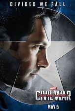 Captain America Civil War Movie Poster (24x36) - Paul Rudd, Ant-Man v10