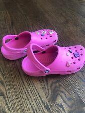 Crocs Girls Shoes Sandals Rubber Pink ~ Sz S  6 7