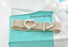 Tiffany & Co Sterling Silver Somerset Mesh Heart Belt Buckle Adjustable Bracelet