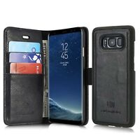 Multifunction Genuine Leather For Samsung Galaxy S7 / Edge S8 Plus Wallet Case