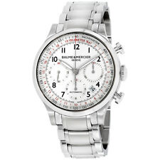 Baume & Mercier Capeland White Dial Stainless Steel Men's Watch M0A10061