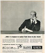 PUBLICITE ADVERTISING   1966   RANK XEROX  copieur