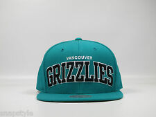New NBA Vancouver Grizzlies - Mitchell & Ness One Tone Teal Words Arch Snapback