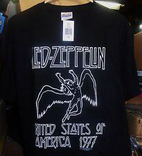 Led Zeppelin, Usa 77, Black T-Shirt (Men's Xl), Brand New Sealed