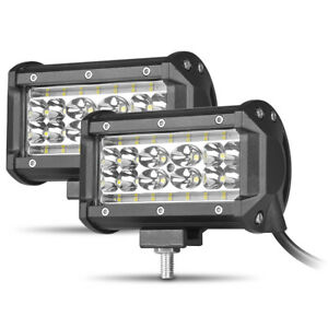 2X 5inch LED Work Light Bar Flood Spot Combo Fog Driving Off-Road SUV ATV Truck
