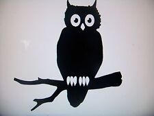 Hoot Owl Wall, Window, Woodland, Rustic Nursery Decor Vinyl Decal, Sticker