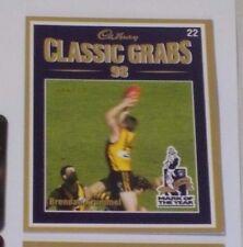 1999 Select Cadbury Classic grabs card #22 Brendan Krummel - Hawthorn