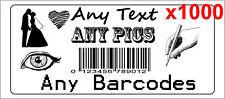 1000 Personalised return address label barcode adhesive custom sticker 56x25mm