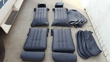 BMW E30 325i 318i 325is SPORT SEATS BLACK LEATHER UPHOLSTERY KIT  NEW BEAUTIFUL