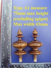 da type A1 - Pair stained wood vienna regulator wall clock FINIALS furniture DIY