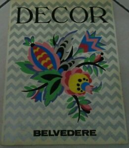 DECOR WALL DECORATIONS - ILLUSTRATIONS FROM 1910 - 1920 EDITIONS BELVEDERE 1980