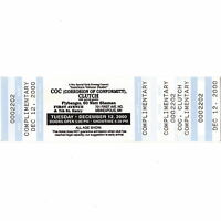 CORROSION OF CONFORMITY & CLUTCH Concert Ticket Stub FIRST AVENUE 12/12/00 MPLS
