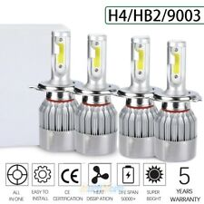 4x H4 HB2 9003 LED Headlight Kit Hi/Lo Beam 6500K Superbright 375000LM 2000W