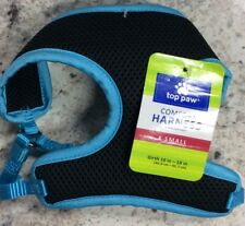 Top Paw Black/Blue Mesh Comfort Dog Harness XS 16-18in - New, Free Ship