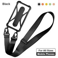 Universal Mobile Phone Silicone Lanyard Case Cover Holders Sling Neck Strap Belt