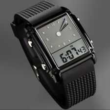 SKMEI Mens Women Sport LED Waterproof Chronograph Analog Silicone Quartz Watch
