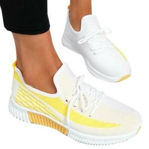 Womens Sock Sneakers Workout Casual Lace-up Trainers Gym Sports Running Shoes
