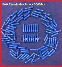 Butt Crimp Terminals,Blue 16-14AWG x5000Pcs
