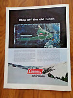 1970 Coleman Skirou Snowmobile Ad Chip off the Old Block