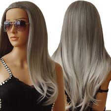 Brown Blonde Synthetic Wigs For Black Women Ladies Heat Resistant Full Head Wig