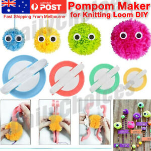 4 Sizes Knitting Loom DIY Pompom Maker Wool Tool Ball Weaver Needle Craft