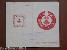 Vecchio calendarietto 1972 BORSARI E FIGLI 1870 1970 Sala Consilina Lotierzo del