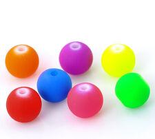 200 Mixte Perles intercalaire Acrylique Rond Fluo 8mm B20895