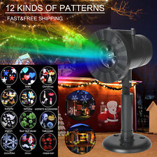 12Patterns LED Laser Projector Light Christmas Party Xmas Outdoor Landscape Lamp