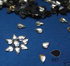 Hotfix 50 Strass Formes 5x7 mm Gouttes Cristal