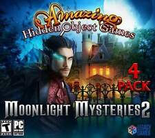 MOONLIGHT MYSTERIES 2  AMAZING HIDDEN OBJECT GAMES (4 PACK) PC GAMES