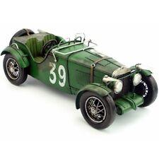 35CM Handmade Antique 1934 MG K3 Magnette Racer Car Tin Metal Reproduction Model