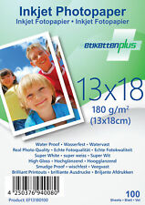 100 Blatt Fotopapier Fotokarten 13x18cm 180g/m² weiß glänzend glossy Photopapier
