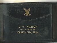 AI-018 - Vintage Halvorfold Men's Leather Wallet 1920's Johnson City TN BPOE