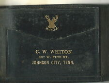 AI-018 - Vintage Halvorfold Men's Leather Wallet 1920's Johnson City TN BPOE