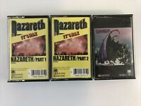 Lot of 3 Nazareth Cassette Tapes - Snaz Part 1 - Part 2 - Hair of the Dog