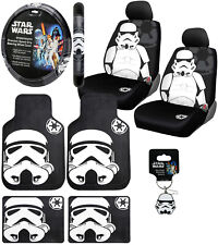 New 10pc STAR WARS Stormtrooper Car Floor Mats Seat Covers Steering Wheel Cover