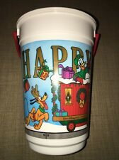 2005 Walt Disney World Happy Holidays Popcorn Bucket, Mickey Minnie Donald Goofy