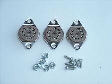 BELTON 9 pin 12AX7, EL84 tube sockets, BOTTOM mount, with hardware, 3 pcs