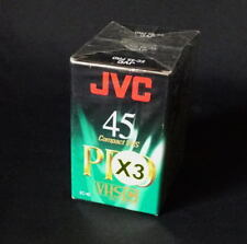 *** LOT DE TROIS CASSETTES CAMESCOPE JVC VHSC EC45 PRO - NEUVES  ***