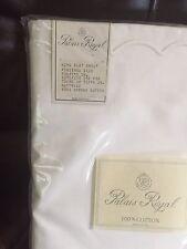 Yves Delorme France NWT (1) King Sheet 100% Cotton White Scalloped