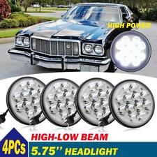 "4PCs 5.75"" INCH Round LED Headlight Projector Hi-Lo Beam For Ford Gran Torino"
